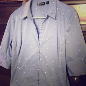 New York & Company Button Down 1/2 Sleeve